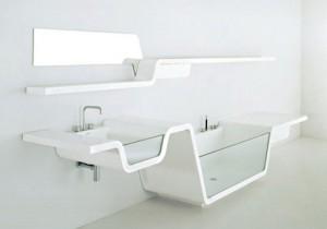 Baño moderno blanco