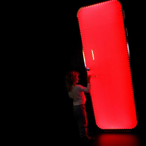 Puerta Brightdoor rojo