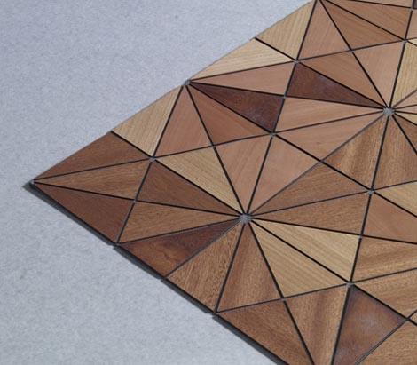 Alfombra de madera decoraci n e interiorismo - Alfombras de madera ...
