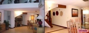 Antes y después de escalera