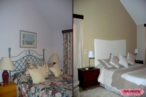 Antes y después de suite principal