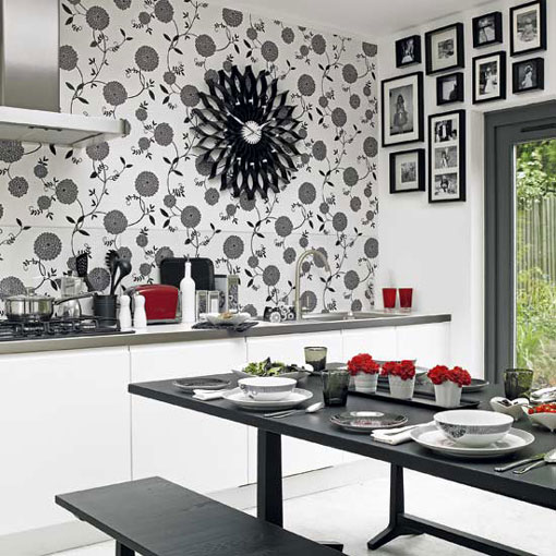 Original black and white kitchen