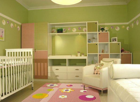 Dormitorios infantiles en verde manzana decoraci n e - Dormitorio de ninos ...
