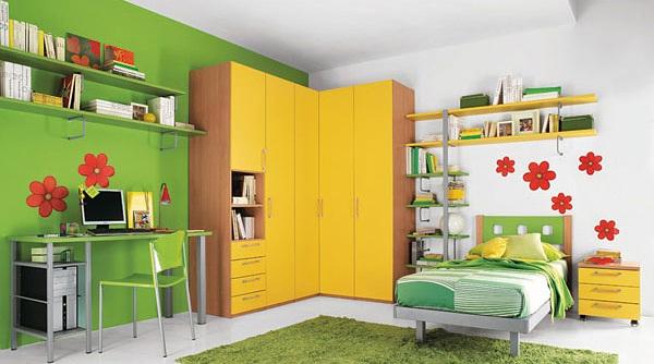 Dormitorio infantil a puro color