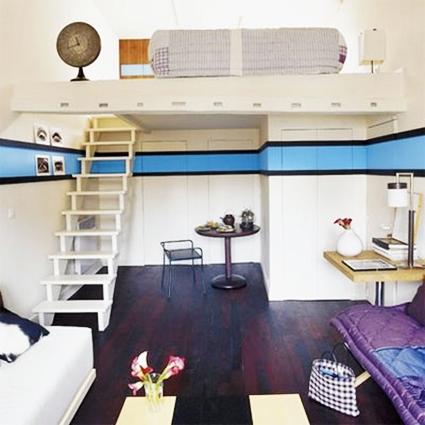Atractivo apartamento tipo loft con doble altura