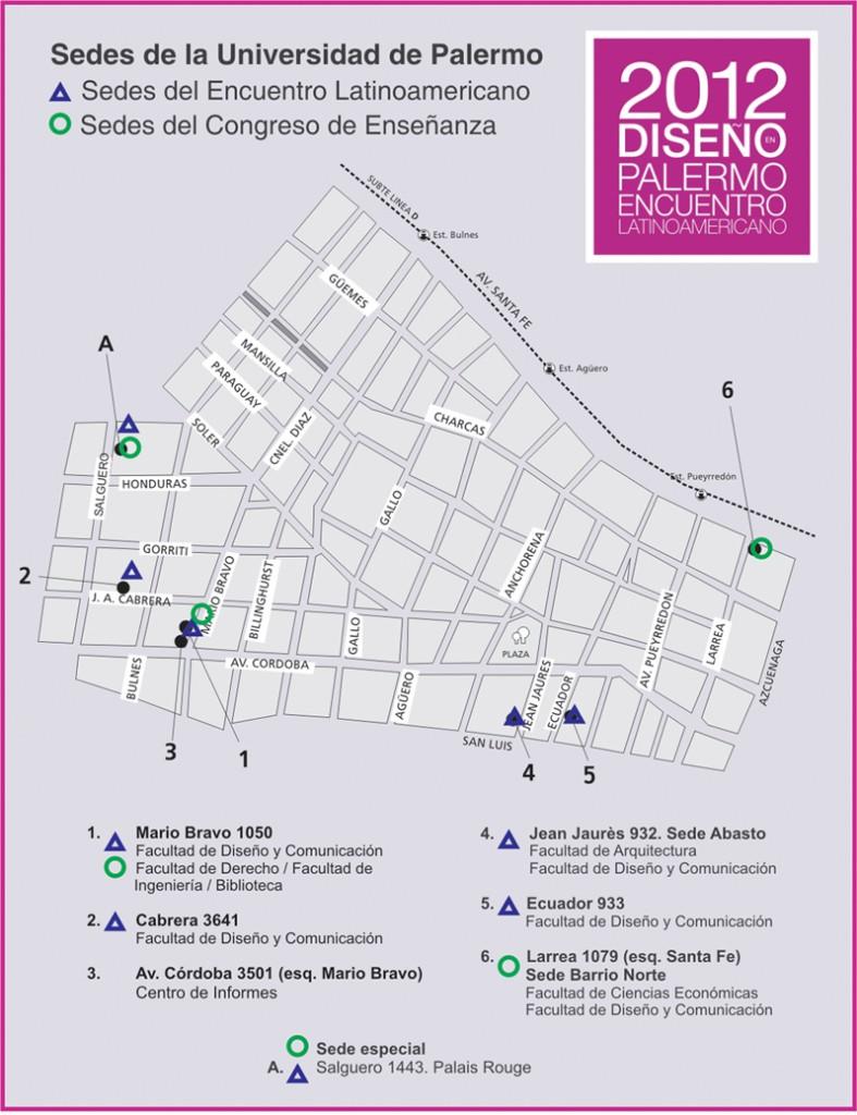 Mapa Sedes Encuentro