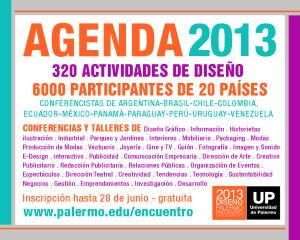 Agenda Encuentro Latinoamericano de Diseño 2013