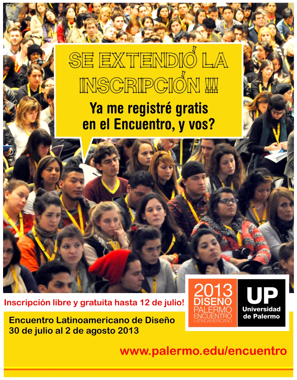 Extensión inscripciones Encuentro Latinoamericano de Diseño 2013