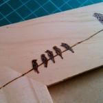 Portarretratos: Birds on wire  Petit.uy
