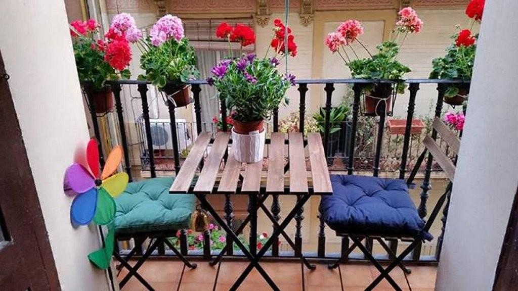 Mesa en balcón
