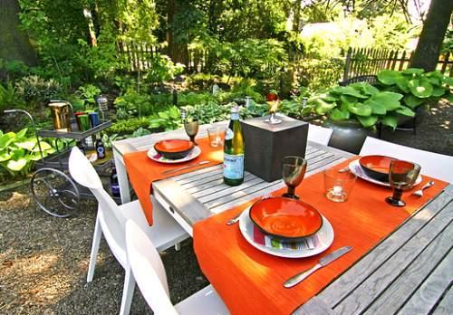 Mesa jardín Naranja
